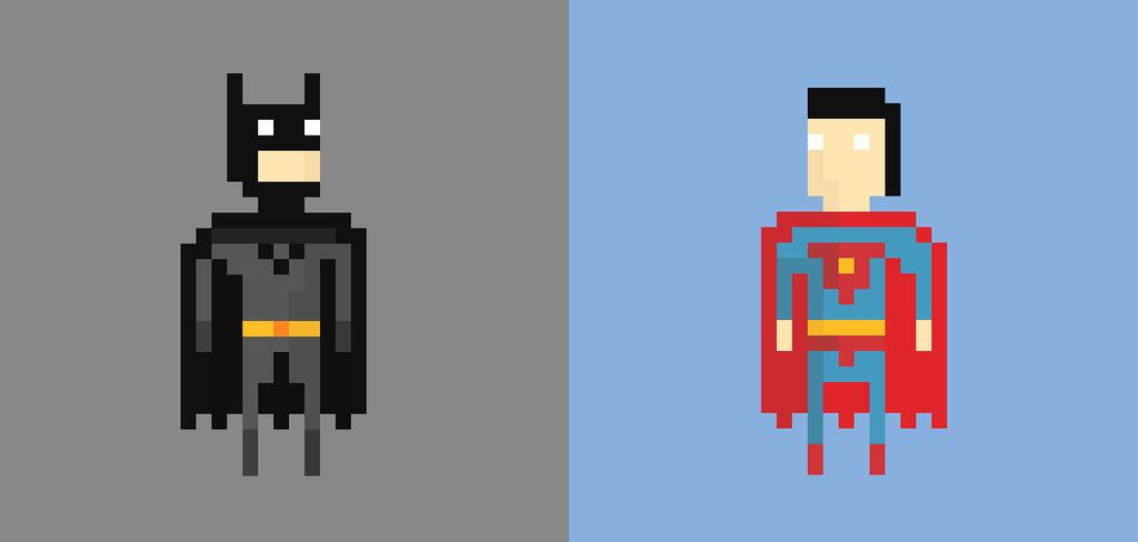 Batman V Superman Pixel Art By Jukrapopk On Deviantart