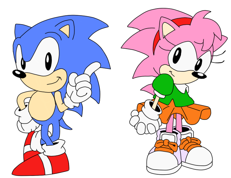Sonic and Amy by Reallyfaster on DeviantArt