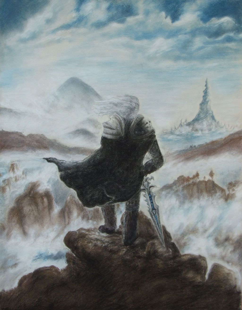 wanderer above the sea Handmade oil painting reproduction of the wanderer above the sea of fog by caspar david friedrich - brushwizcom museum quality guaranteed + free shipping.