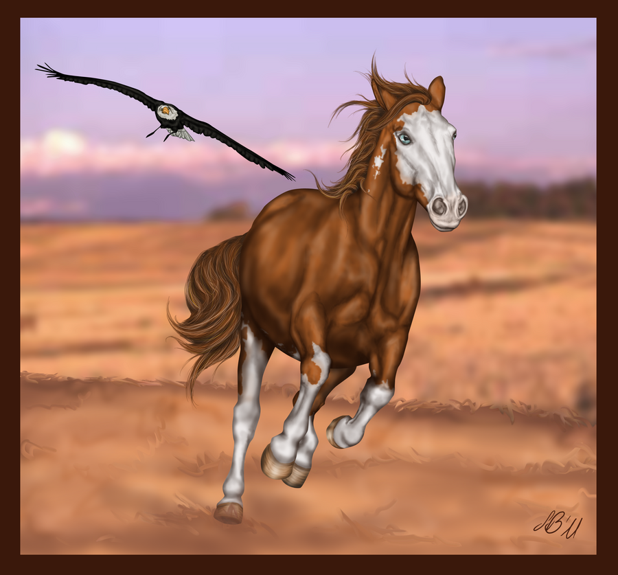Wild Mustang by Axelya on DeviantArt