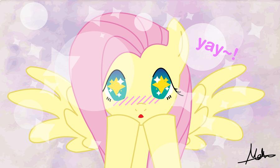 Fluttershy Blush by mini-deus