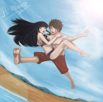 KibaHina- Beach Jump by h-ozuno