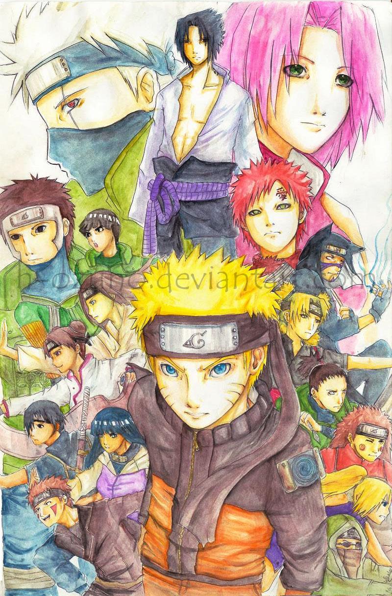 Naruto Shippuden -color- by h-ozuno