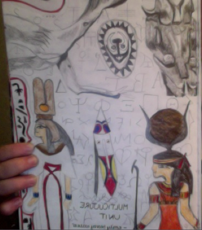 Gcse Art Sketchbook 3 Culture Title Page By