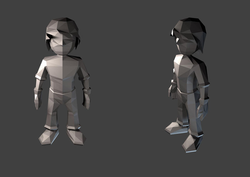 Introduction To Character Modeling In Blender Free Download : Going d first low poly character by mr doodlezz on