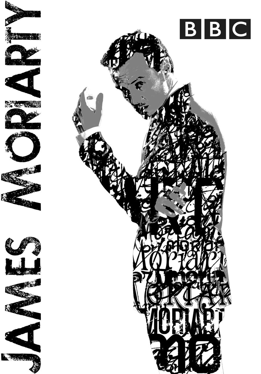 Moriarty BBC Typography Portrait by BluePhyre