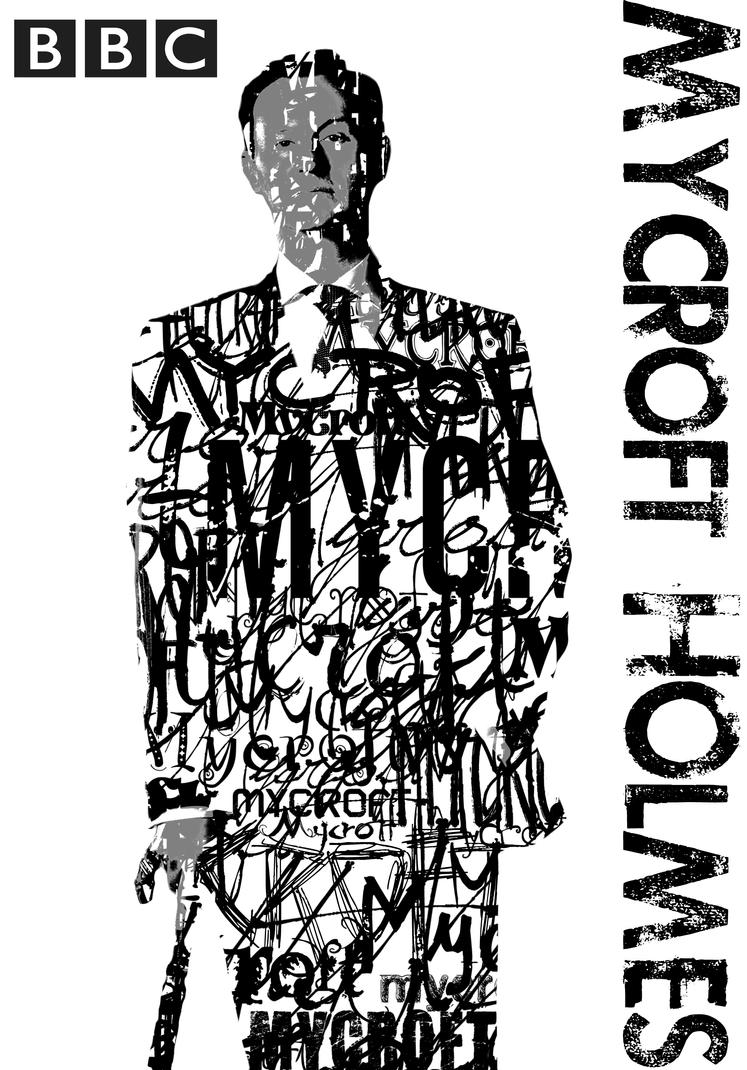 Mycroft BBC Typography Portrait by BluePhyre