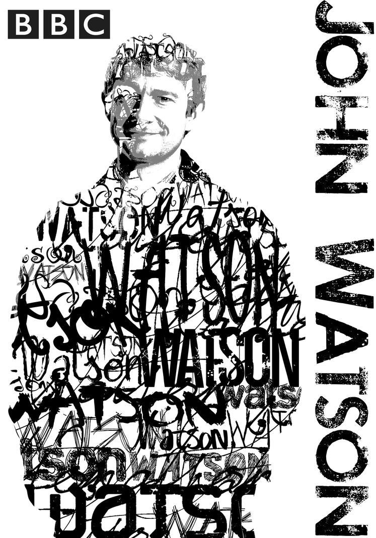 John Watson BBC Typography Portrait by BluePhyre