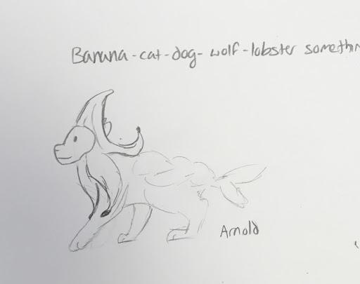Banna-cat-dog-wolf-lobster something by an0nym0usW01f
