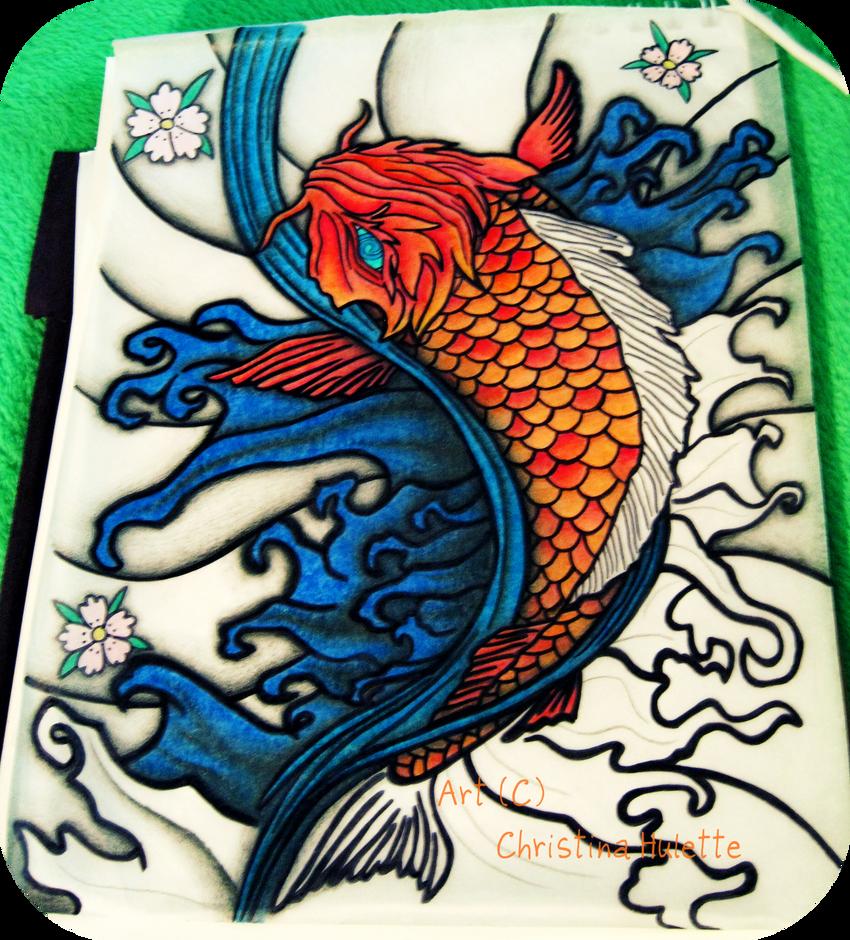koi fish tattoo design wip by ishankasaurus on deviantart. Black Bedroom Furniture Sets. Home Design Ideas