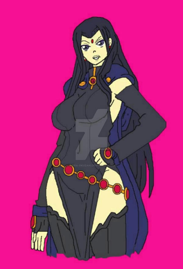 Raven young justice by Akira-Okuzaki