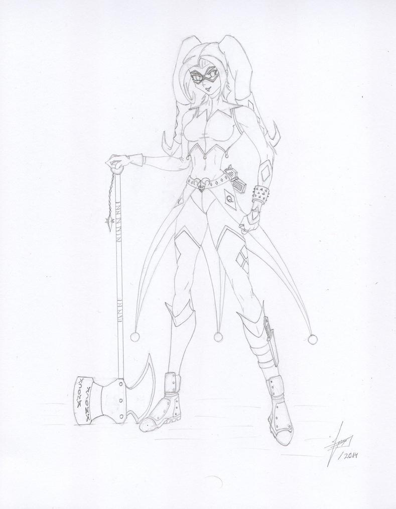 Harley Quinn by Juankcr