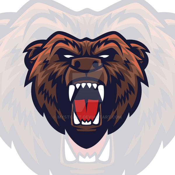 grizzly bear head vector mascot logo by mystcart on deviantart rh mystcart deviantart com bear mascot clipart free bear mascot clipart free