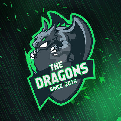 Dragon Vector Gaming Logo Design by mystcART