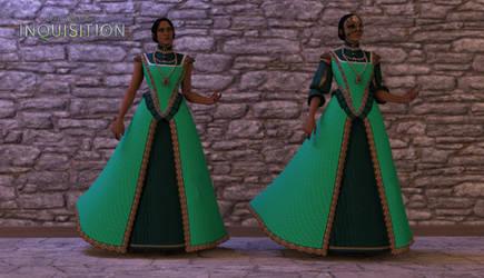Josephine Montilyet | Mint Dress | XPS Model by Reiko-Himezono-Lirka