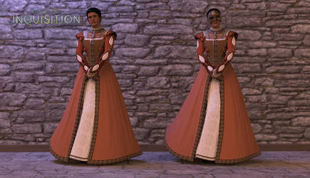 Cassandra Pentaghast | Apricot Dress | XPS Model by Reiko-Himezono-Lirka