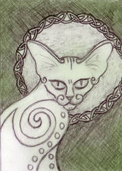 Cat ACEO by ladyfireoak