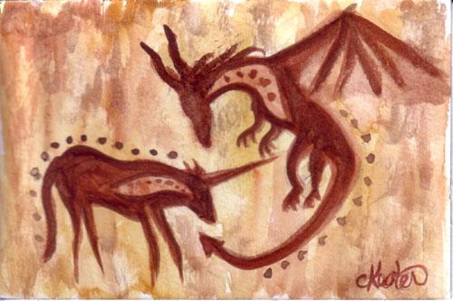 Cave Dragon and Unicorn