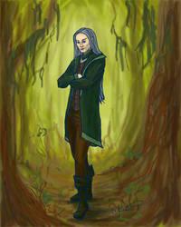 Elf Character Sketch by ladyfireoak