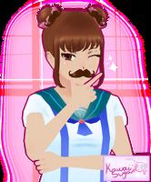Moustache-chan by KawaiiSugarRose