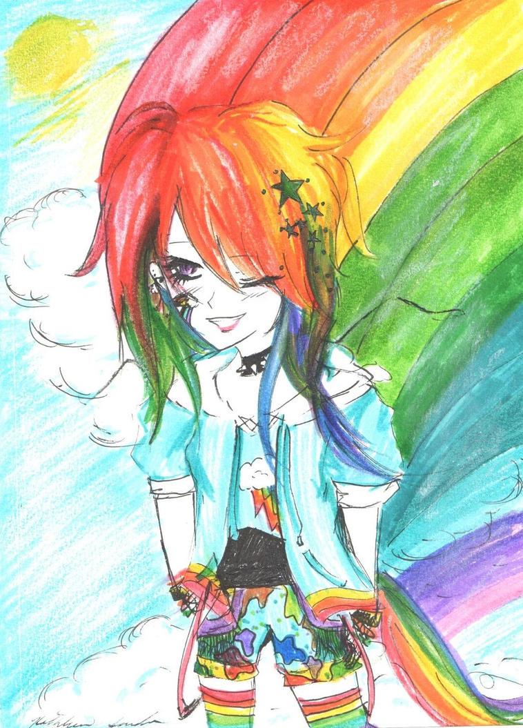 Anime Rainbow Dash by KitKatsCreations998 on DeviantArt