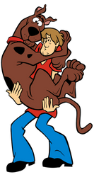 Cyber Shaggy Holding Cyber Scooby