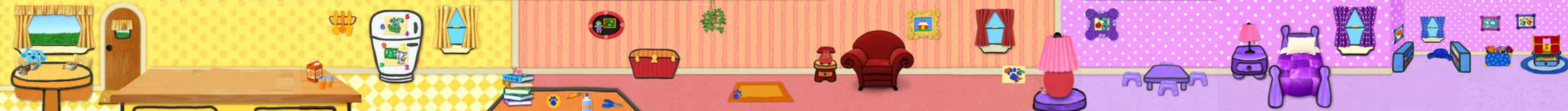 Blue's Clues Blue Takes You To School Background