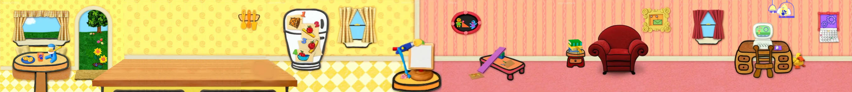 Blue's Clues Contraptions Background