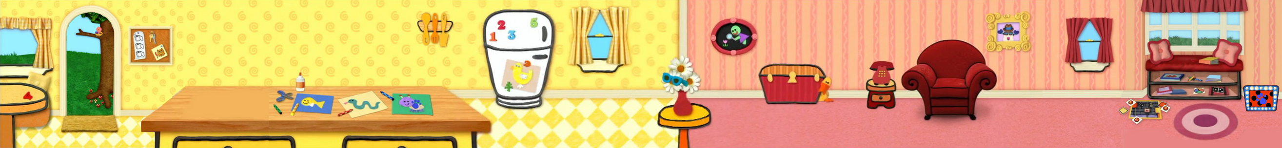 Blue's Clues Look Carefully Background