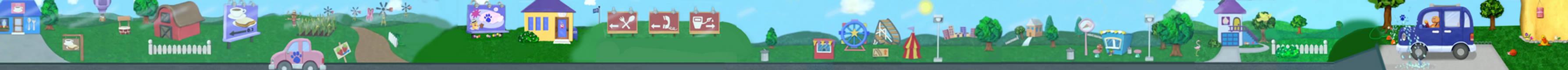 Blue's Clues Blue's Big Car Trip Background
