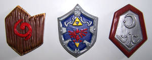 Ocarina of Time Shields Fridge Magnets