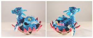 Sea Lotus Dragon by ApostacyArt