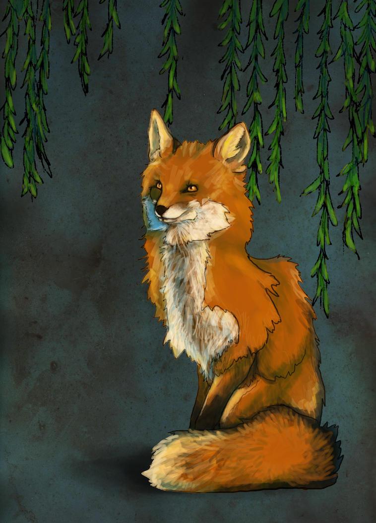 Fox and Willow by gummiberri