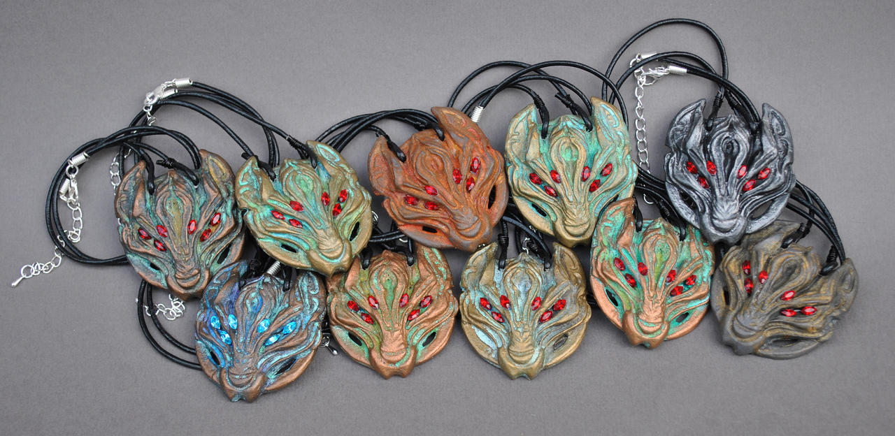 Disciple of Fen'harel necklaces by ApostacyArt