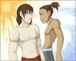 Sokka and Zuko, shirt-free