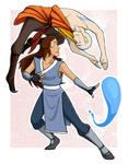 Aang and Katara -- Bending