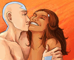 Aang+Katara - C'mere, you by AliWildgoose