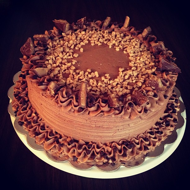 Heath Bar Cake by Deathbypuddle