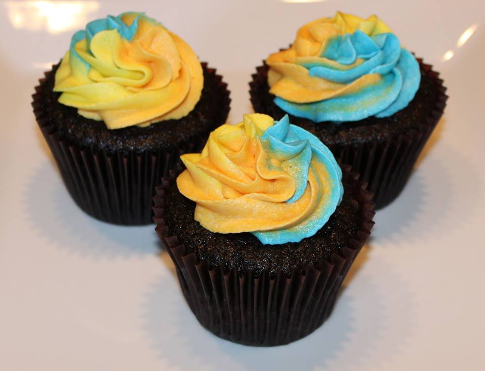 Chocolate Tie Dye Cupcakes by Deathbypuddle