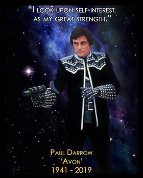 Paul Darrow - Avon - In Memoriam by NeilChe