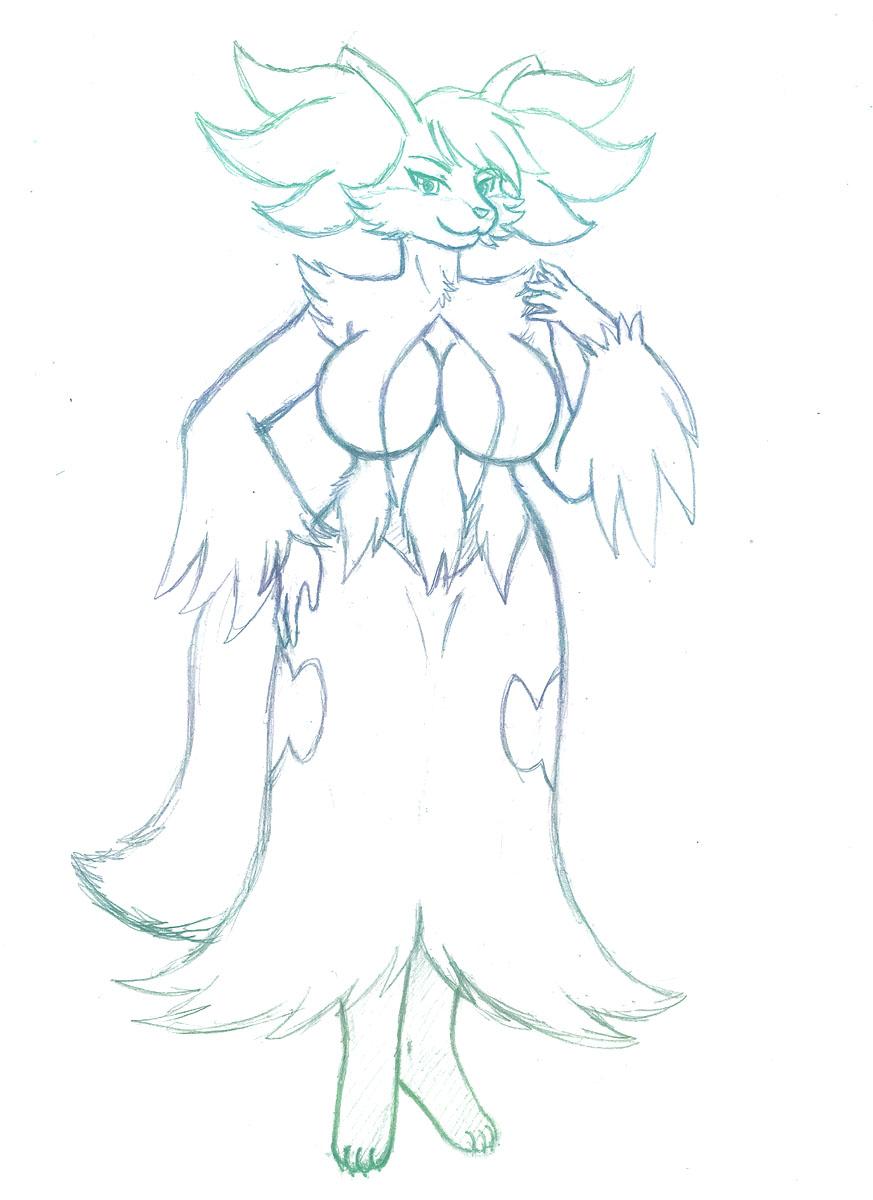 Delphox - sketch by shinn3