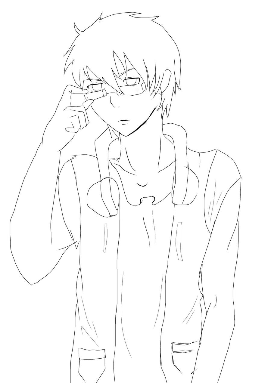 Lineart Anime Boy : Boy lineart by lead and imagination on deviantart