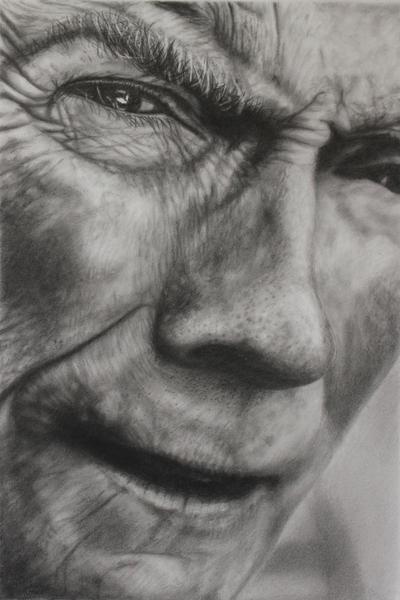 Clint I by joannewhiteart