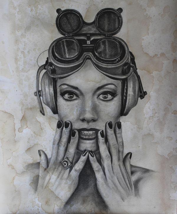 Steampunk Girl 1 by joannewhiteart