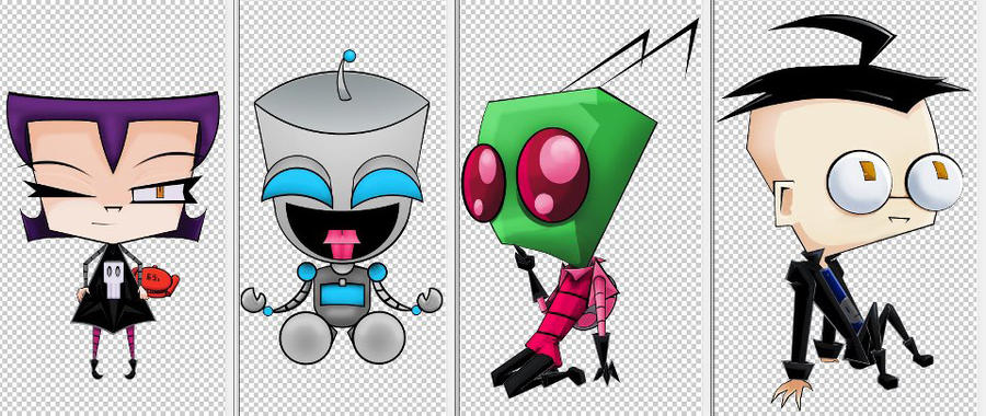 Invader Zim Characters by BlackMoon4242564 on DeviantArt Invader Zim Characters