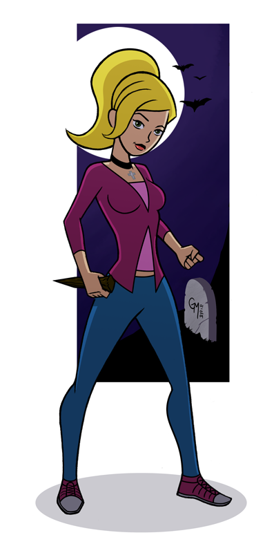 Toon Buffy by hermit-homeboy