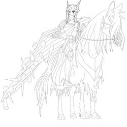 Altria Pendragon (Lancer Alter) Line Art