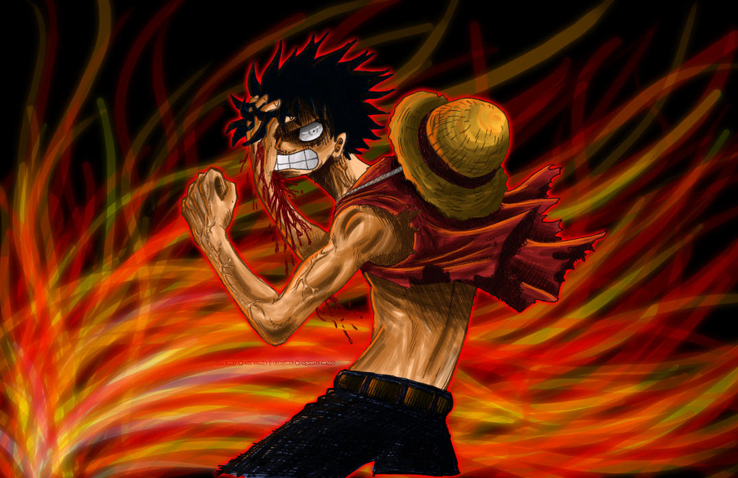 op angry luffy coloured by shinyzango on deviantart