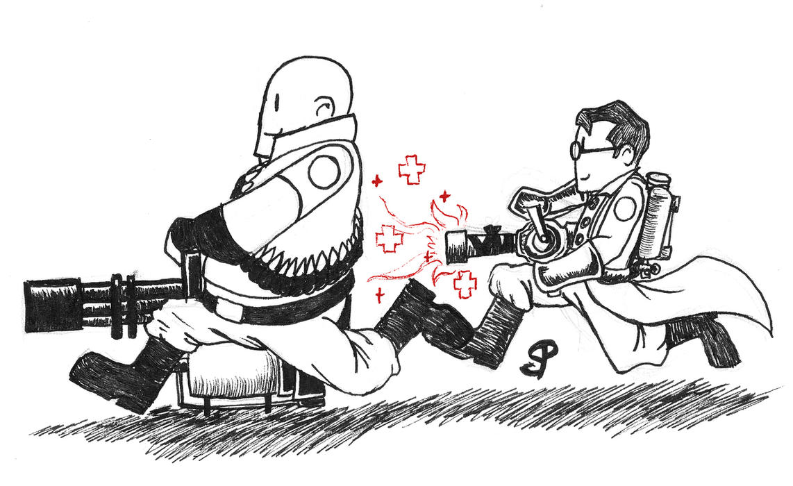 tf2 how to draw medic