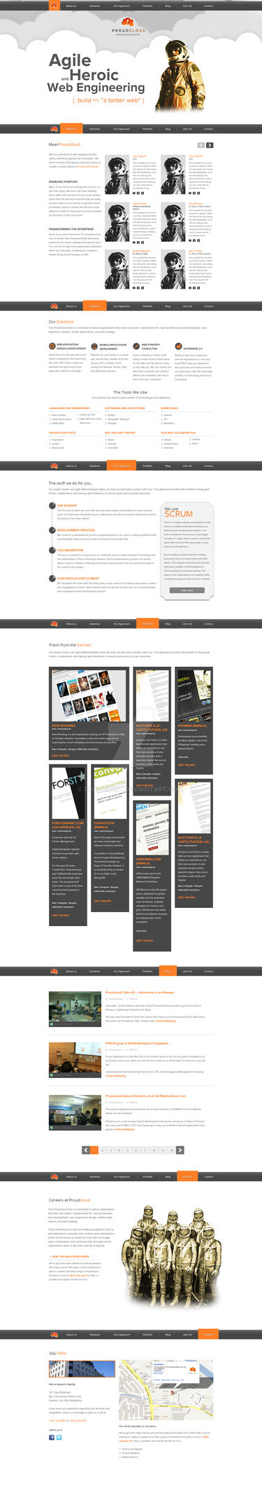 Proudcloud Offical Website V1 by Geobarney